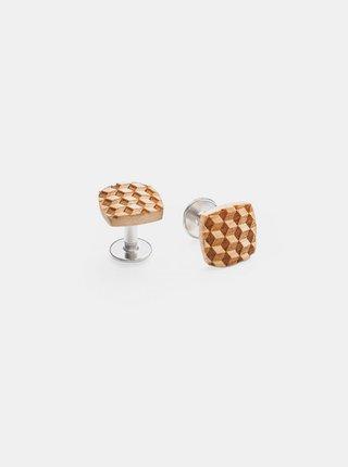 Dřevěné manžetové knoflíčky Cubo Cuff BeWooden