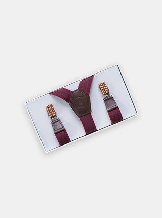 Kožené šle Atria Suspenders s dřevěnými detaily BeWooden
