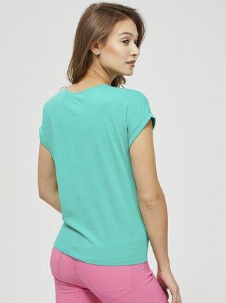 Moodo dámske zelené tričko s potlačou