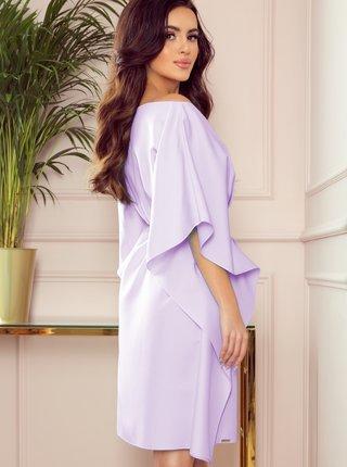 Svetlofialové volné šaty so zaväzovaním numoco