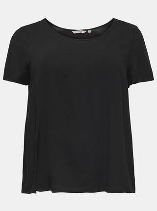 Čierne voľné basic tričko ONLY CARMAKOMA Firstly