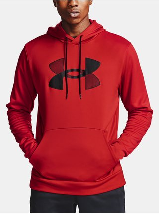 Mikina Under Armour Armour Fleece Big Logo HD - červená