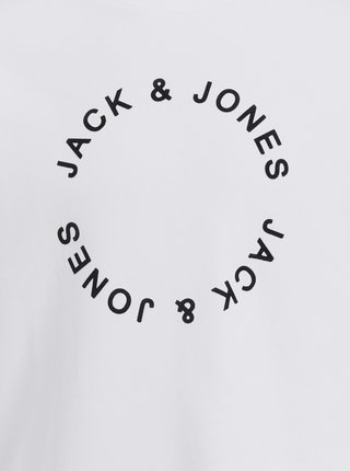 Biela mikina s potlačou Jack & Jones