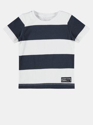 Tmavomodré chlapčenské pruhované tričko name it