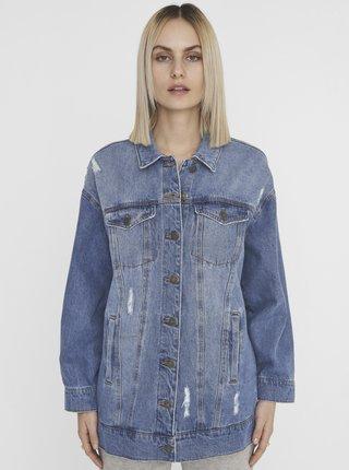 Modrá džínová bunda s potrhaným efektem Noisy May Fiona