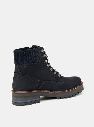 Čierne dámske členkové topánky Wrangler