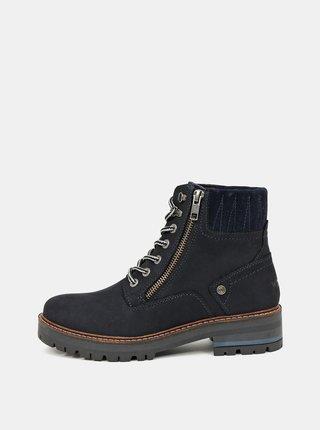 Černé dámské kožené zimní boty Wrangler Denver