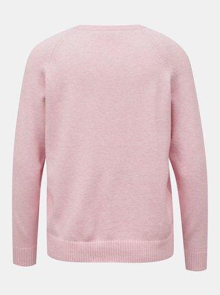 Světle růžový svetr ONLY Lesly