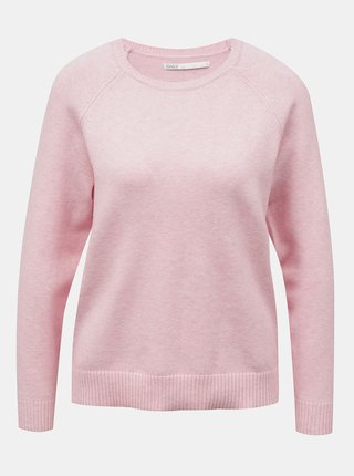 Svetloružový sveter ONLY Lesly