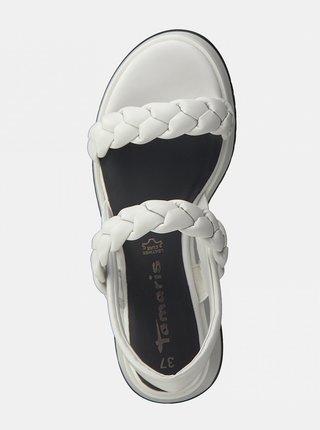 Biele sandále na platforme Tamaris