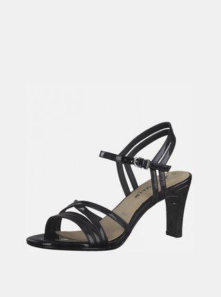 Černé sandálky na vysokém podpatku Tamaris