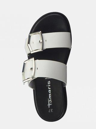Bílé pantofle Tamaris