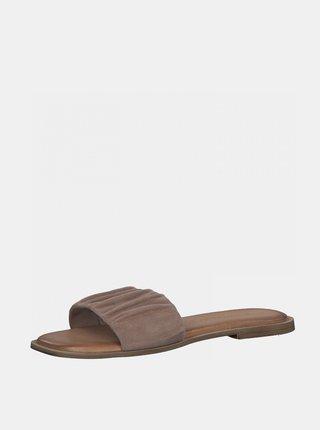 Starorůžové semišové pantofle Tamaris