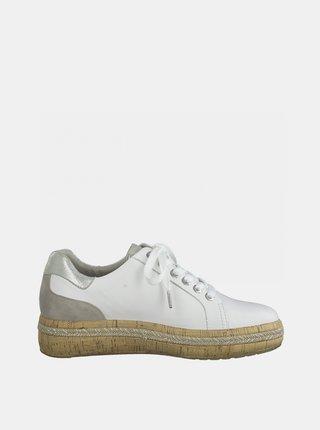 Biele kožené tenisky Tamaris