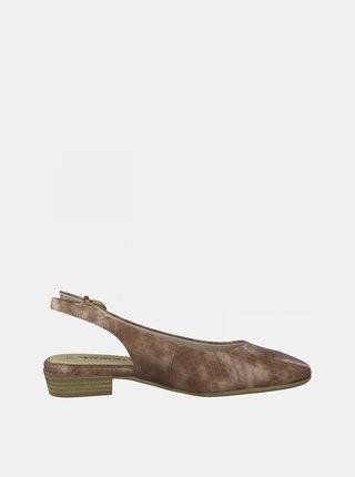 Hnedé vzorované baleríny Tamaris