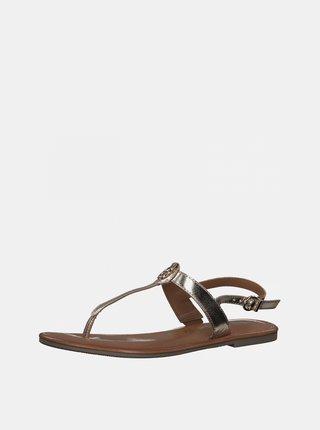 Kožené sandále v zlatej farbe Tamaris
