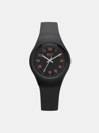 Černé dámské hodinky  GMT