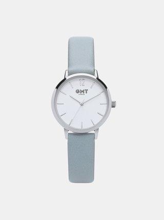 Šedé dámské hodinky GMT