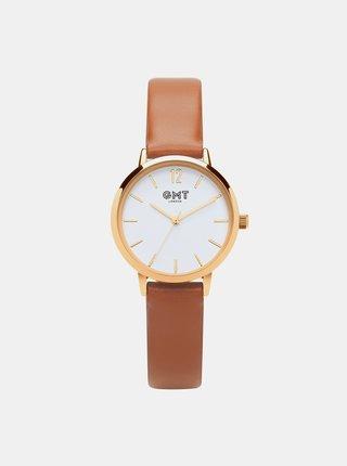 Hnědé dámské hodinky  GMT