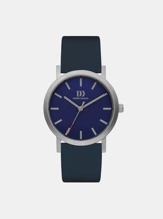 Dámské hodinky s tmavě modrým koženým páskem Danish Design