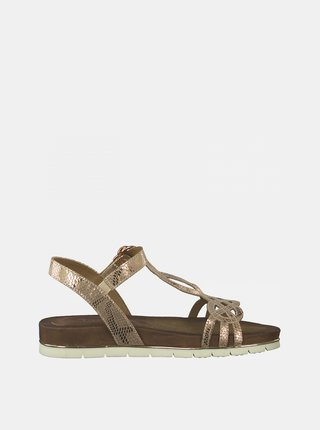 Sandále v zlatej farbe Tamaris