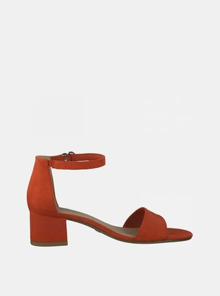 Červené sandále na podpätku Tamaris