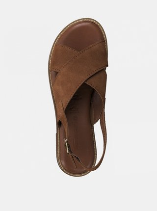 Hnedé semišové sandále Tamaris