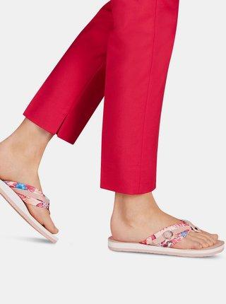 Růžové květované žabky Tamaris