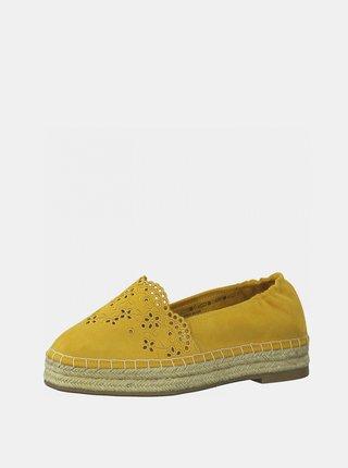 Žlté semišové espadrilky Tamaris