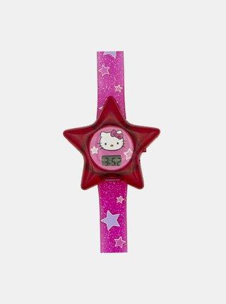 Růžové hodinky ve tvaru hvězdy Hello Kitty