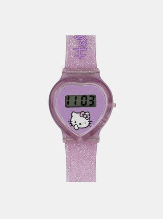 Růžové holčičí hodinky ve tvaru srdce Hello Kitty