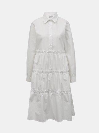 Biele košeľové šaty Noisy May Pinar