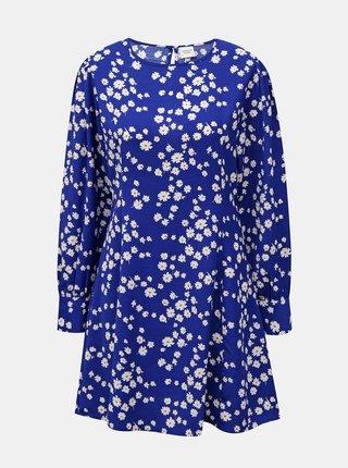 Modré květované šaty Jacqueline de Yong