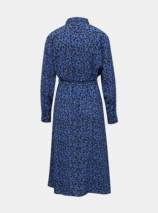 Modré vzorované košilové midišaty Jacqueline de Yong  Piper