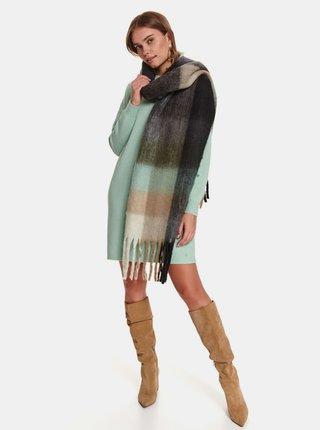Mentolové svetrové šaty TOP SECRET