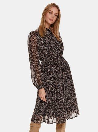 Černé květované šaty TOP SECRET