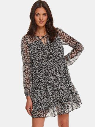 Černo-šedé květované šaty TOP SECRET