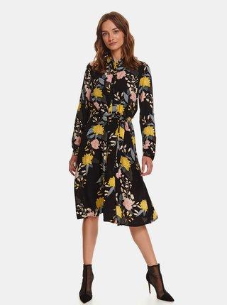 Černé květované košilové šaty TOP SECRET