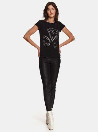 Černé tričko s potiskem TOP SECRET