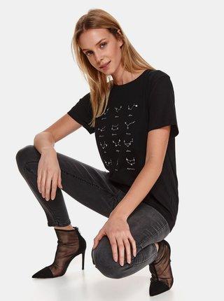 Tričká s krátkym rukávom pre ženy TOP SECRET - čierna