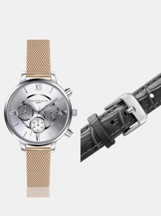 Dámské hodinky s vyměnitelným páskem ve zlaté a černé barvě Annie Rosewood