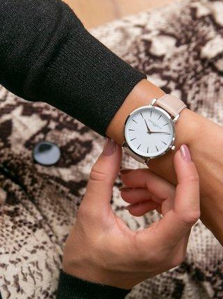 Dámské hodinky s vyměnitelným páskem v béžové a černé barvě Annie Rosewood