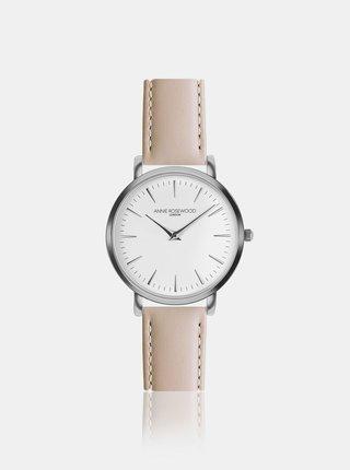 Dámske hodinky s béžovým koženým remienkom Annie Rosewood