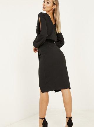 Černé zavinovací šaty QUIZ