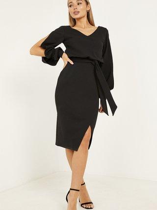 Čierne zavinovacie šaty QUIZ