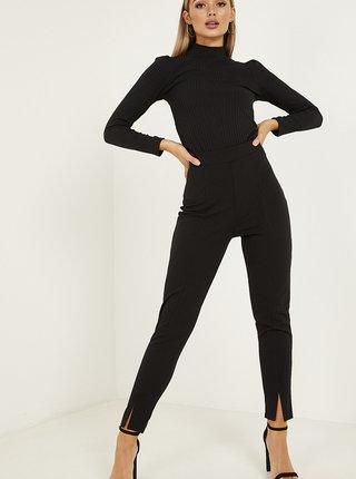 Černé zkrácené skinny fit kalhoty QUIZ