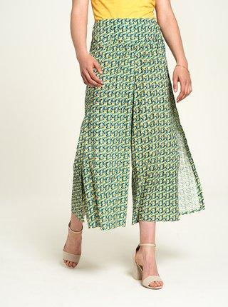 Zelené vzorované culottes Tranquillo