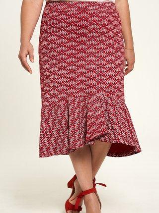Červená kvetovaná sukňa Tranquillo