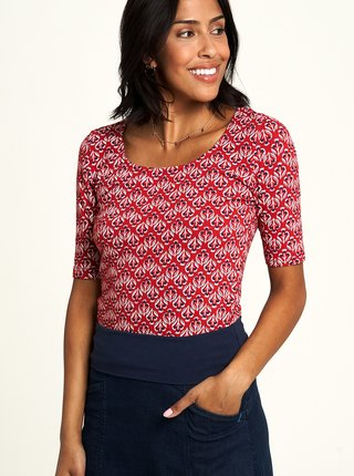 Červené vzorované tričko Tranquillo