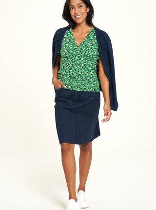 Zelené vzorované tričko Tranquillo